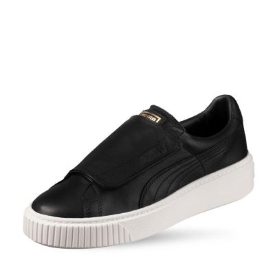PUMA-BasketPlatformStrapWns 女性復古休閒鞋-黑色