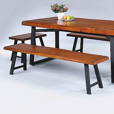 H&D 卡啦淺胡桃4尺長方凳 (寬120X深32X高46cm)