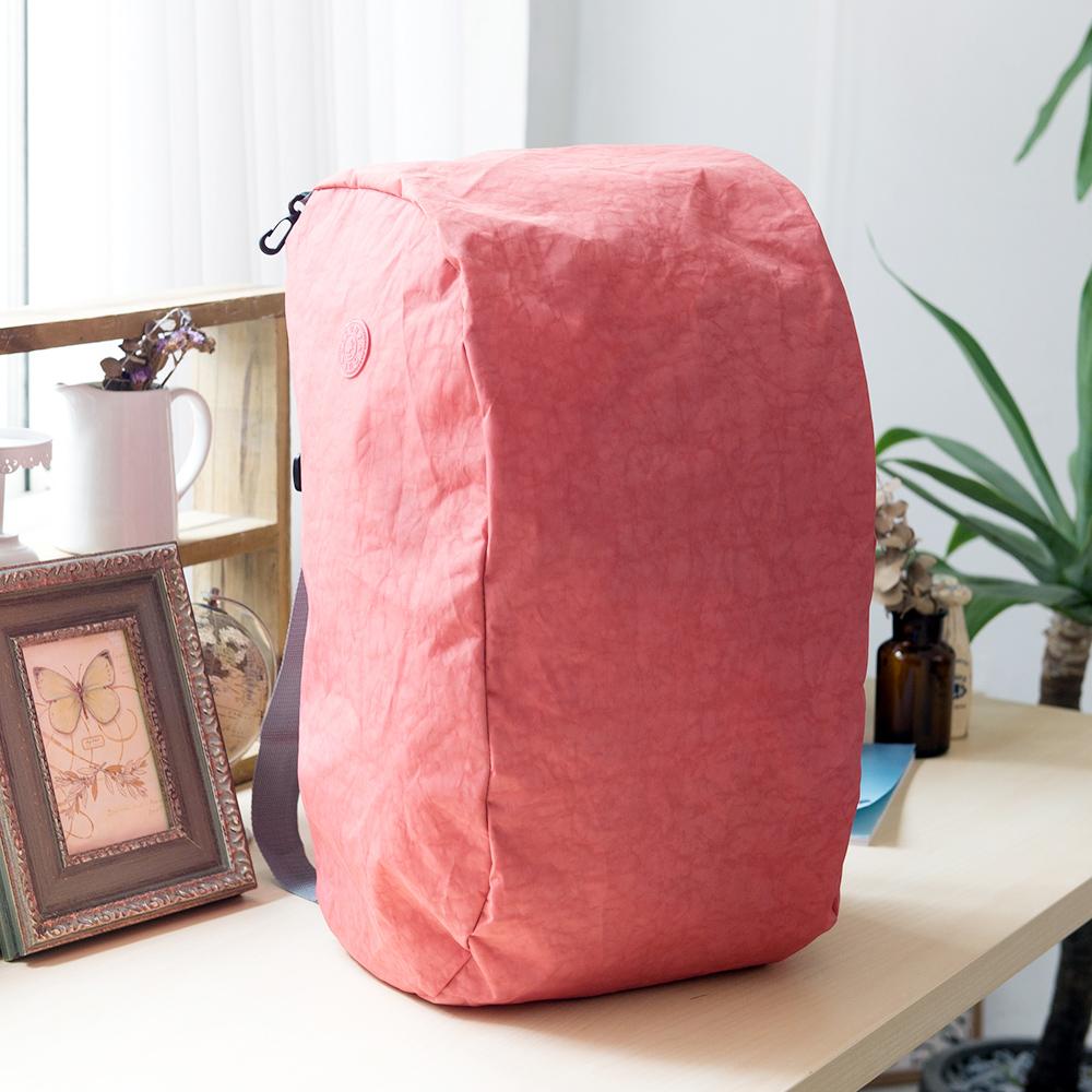 COUNT DUCK 美系悠活輕量雙肩後背包-CD-027-粉橘