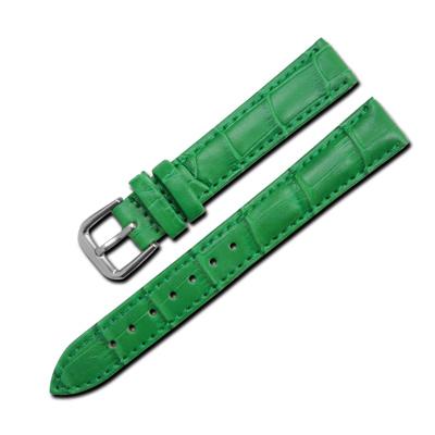 Watchband /  簡約質感別緻舒適壓紋真皮錶帶 綠色