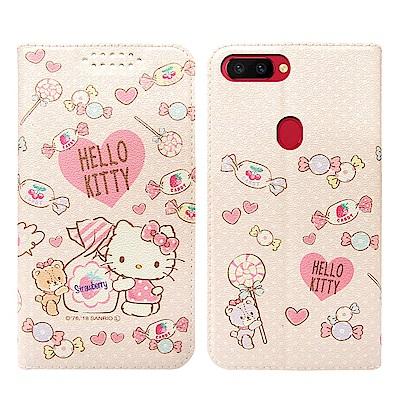 Hello Kitty貓 OPPO R11s Plus 粉嫩系列彩繪磁力皮套(軟...