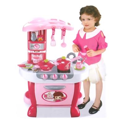 Amuzinc酷比樂 家家酒系列玩具聲光觸控廚房組(粉紅色) 008-801