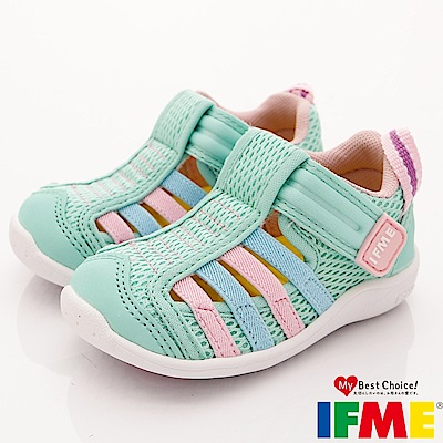 IFME健康機能鞋 透氣排水鞋款 EI00455淺綠 (寶寶段)