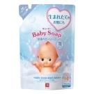 日本牛乳石鹼-裘比嬰兒泡沫沐浴乳補充包350ml(總代理)