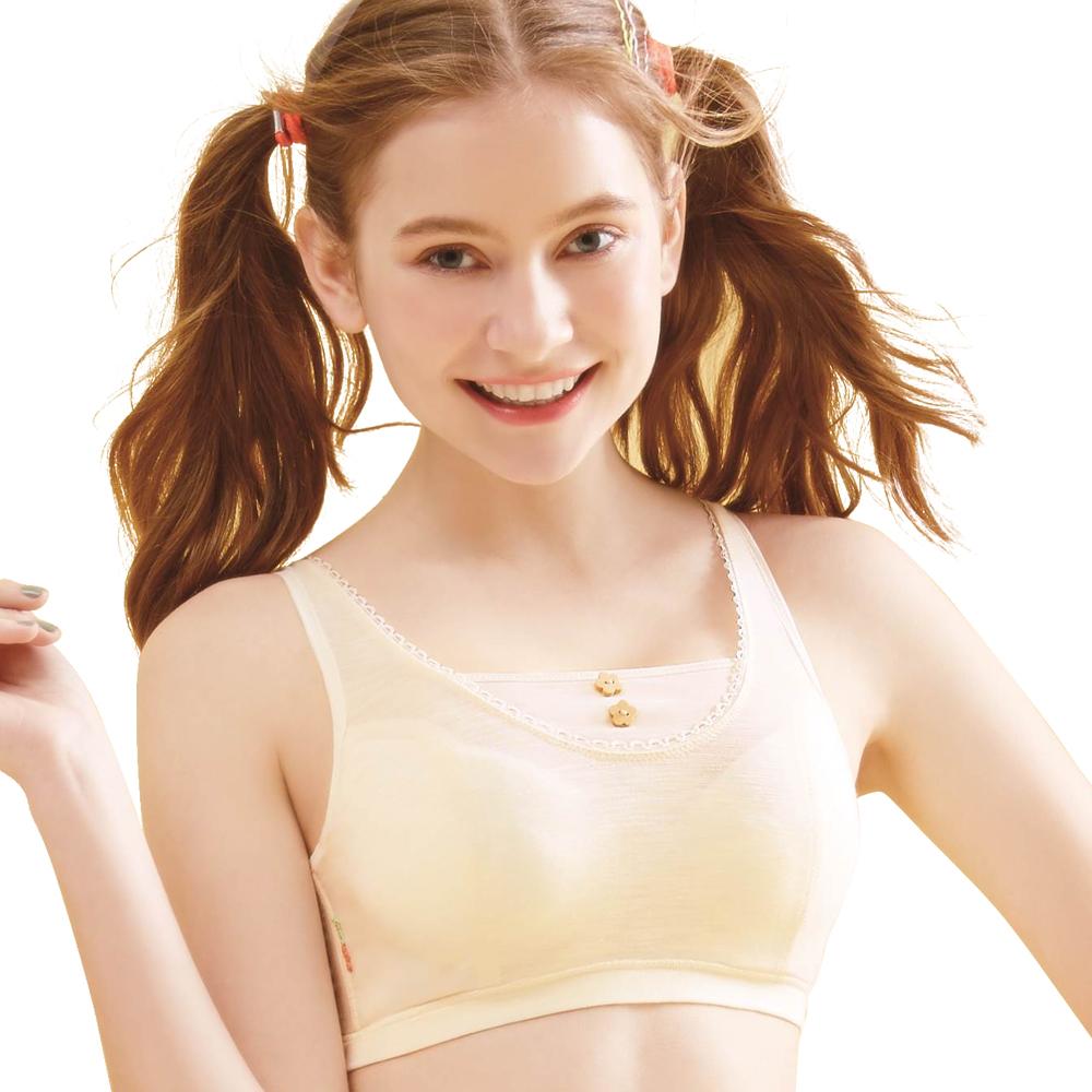 思薇爾 竹蜻蜓輕甜風系列B-E罩軟鋼圈背心式素面包覆內衣(香草奶)