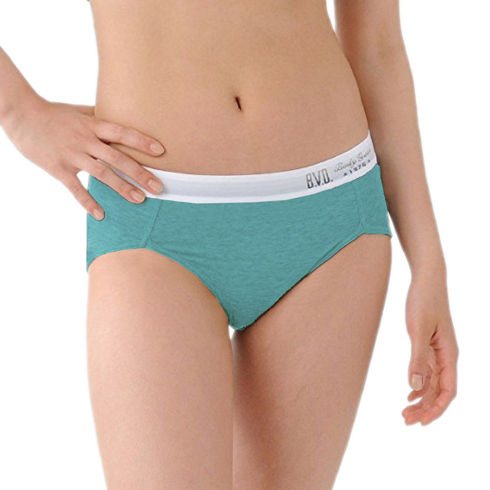 BVD Ladies  COTTON BASIC系列 開高衩三角內褲(綠色)