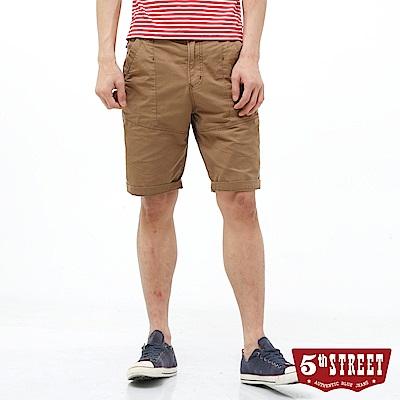 5th STREET 街霸休閒短褲-男-褐色