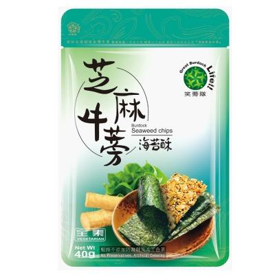笑蒡隊 芝麻牛蒡海苔酥唰嘴10包組(40g/包)