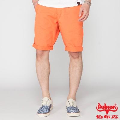 BOBSON 男款純棉短褲(橘21)