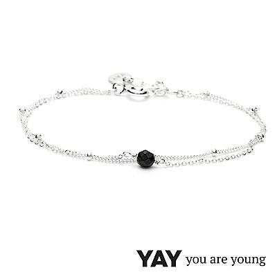 YAY You Are Young 法國品牌 Stella 黑曜石手鍊 925純銀