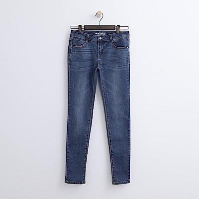 Hang Ten - 女裝 - 低腰彈性萊卡牛仔褲-水藍色