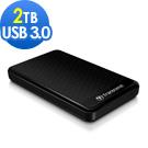 創見 USB3.0 2TB StoreJet A3 行動硬碟(黑)