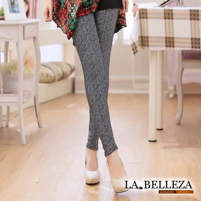 La Belleza箭紋漸層內裡加絨保暖彈性厚棉磨毛內搭褲