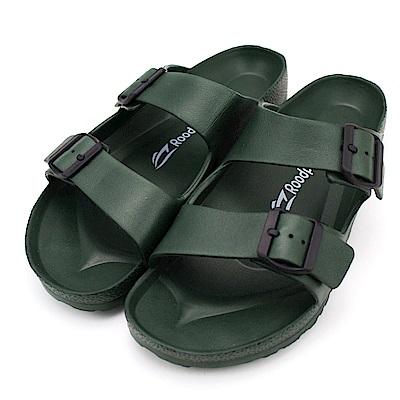 24H-Roadpacer-男雙釦環休閒拖鞋BS020DGN-墨綠