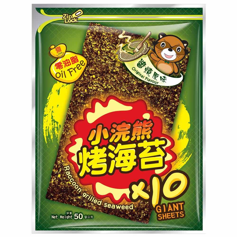泰國 小浣熊 零油脂烤海苔(50g)(共2種口味)