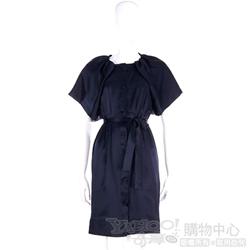 Love Sex Money 深藍色扇型袖洋裝(含腰帶)