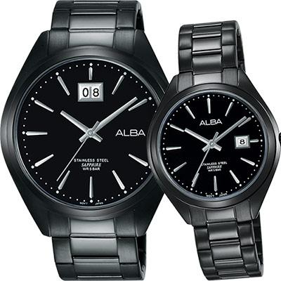 ALBA PRESTIGE 日系純粹時尚對錶(AQ5147X1+AH7L25X1)