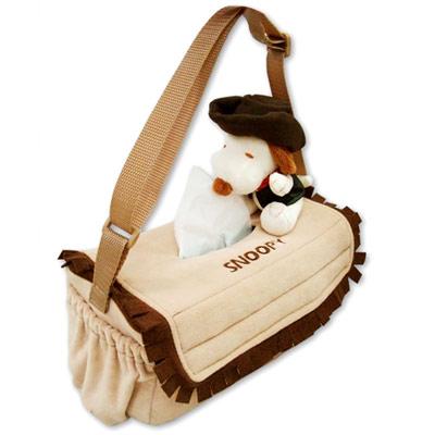 SNOOPY 牛仔系列多功能面紙盒套置物袋(橫掛式)