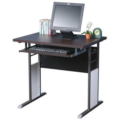Homelike 巧思辦公桌 炫灰系列-胡桃加厚桌面80cm(附鍵盤)