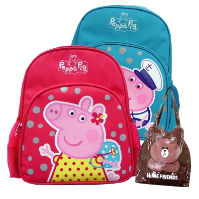Peppa-Pig-1-1粉紅豬兒童後背包-熊大防