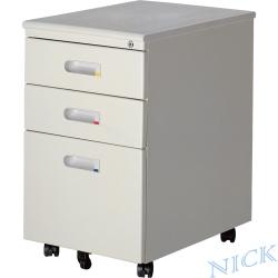 NICK 三抽經濟烤漆鋼製活動櫃
