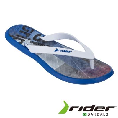 Rider 巴西 男 ENERGY V AD 時尚機能夾腳拖 (塗鴉藍)