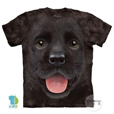 摩達客 美國進口The Mountain  小黑拉不拉多犬微笑 短袖T恤