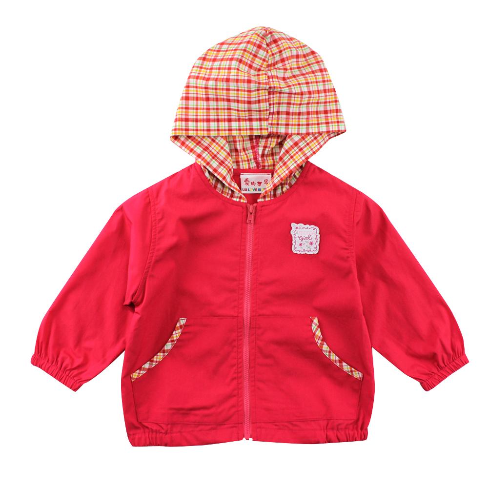 愛的世界 SUPERMINI 純棉半鬆緊帶口袋連帽長袖外套/1~2歲