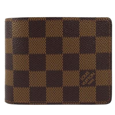 LV N61208 Slender咖啡棋盤格紋短夾