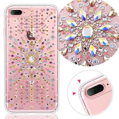 KnowStar APPLE iPhone 7+/8+ 奧地利水晶彩繪防摔貼鑽手...