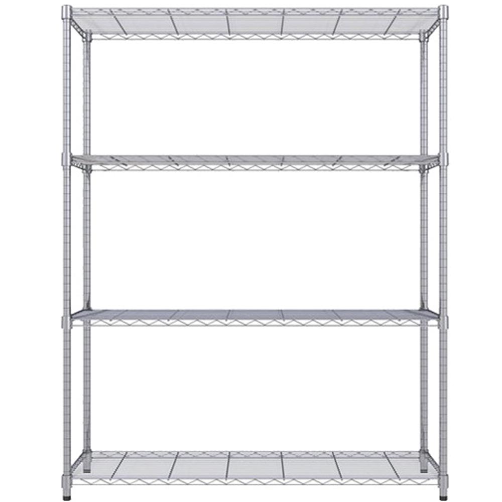 《海克力士》寬120深45高180公分-鍍鉻四層鐵架