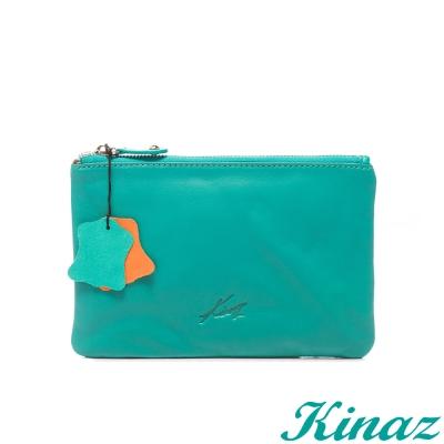 KINAZ - 玩色盛宴~鮮豔妝點手拿包-亮麗橘