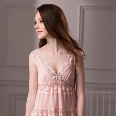 羅絲美睡衣 - 誘惑情人細肩帶洋裝睡衣 (粉紅色)