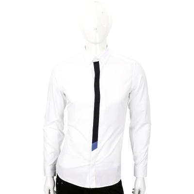 KENZO 白色拼接設計長袖襯衫