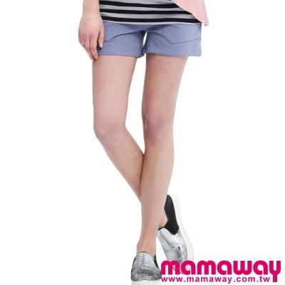 Mamaway-孕期超軟針織短褲-共二色