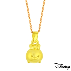 Disney迪士尼金飾 TSUM黛絲鴨黃金墜子 送項鍊