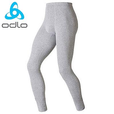 【ODLO】warm effect 男機能銀離子保暖長褲.內搭褲.衛生褲/深麻灰