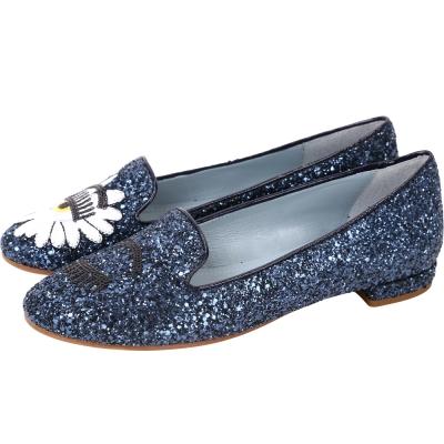 Chiara Ferragni Wonderland 雛菊亮片眨眼樂褔鞋(深藍色)