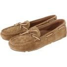 BOTTEGA VENETA 麂皮編織綁帶莫卡辛鞋(棕色)