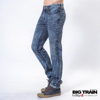 BIG-TRAIN-中腰基本款赤青小直筒-男-中藍