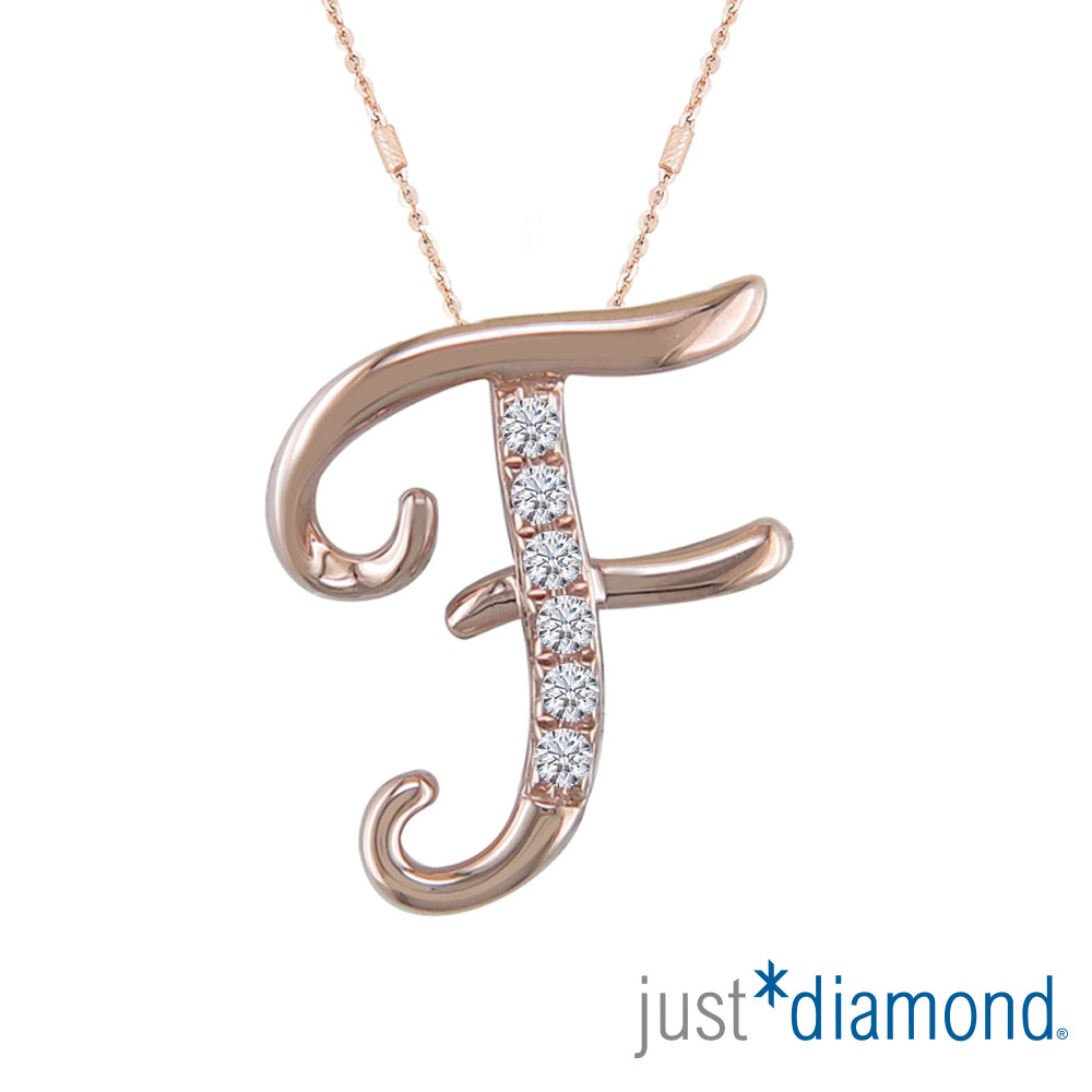 Just Diamond Love Letter系列18K金鑽石墜子-F