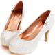 Ann'S絕美氣質-獨家訂製款bling蕾絲新娘跟鞋-白 product thumbnail 1