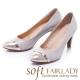 Fair-Lady-芯太軟-金屬感拼色高跟鞋-灰