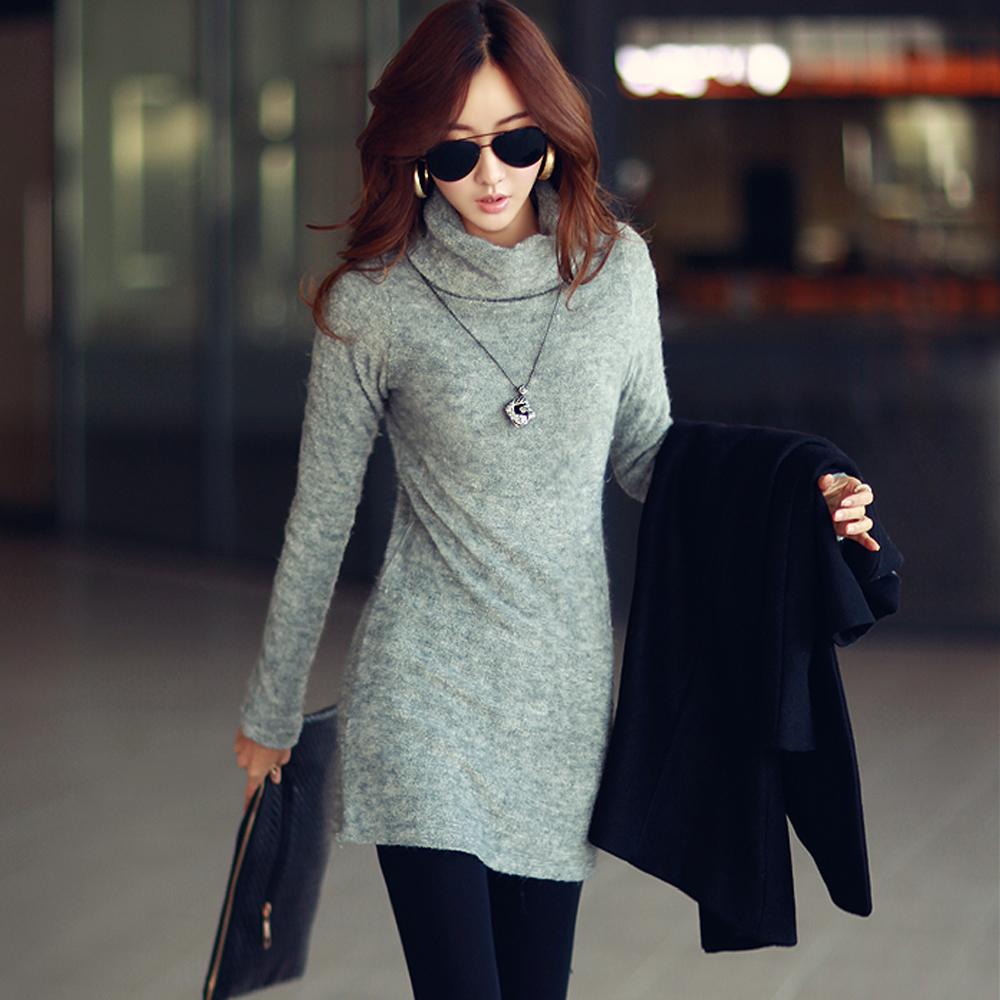 N.C21 保暖棉毛鬆高領長版毛衣 (共四色)