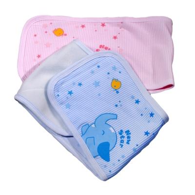 魔法BABY~台灣製造嬰幼兒羅紋肚圍(粉.藍)~g3559