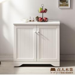 日本直人木業-EDWARD北歐風80CM廚櫃
