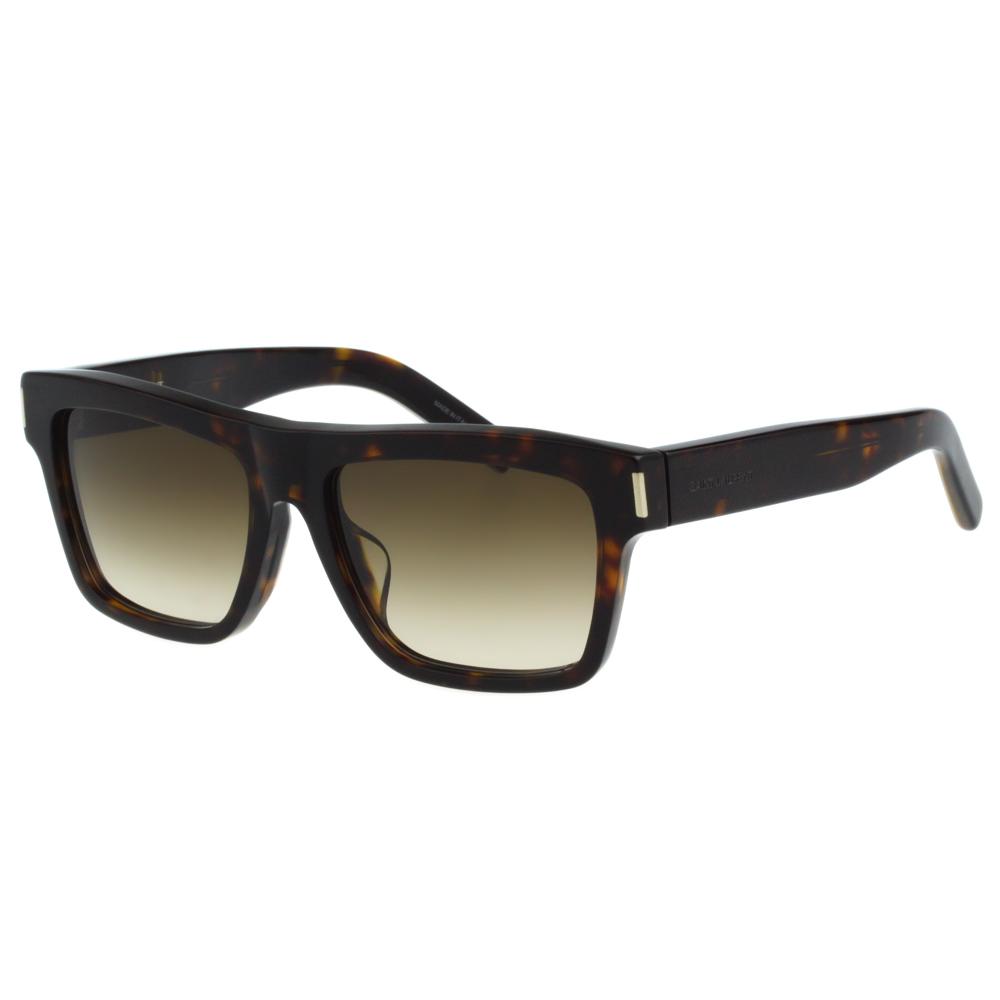 Saint Laurent Paris 帥氣方框 太陽眼鏡(琥珀色)BOLD5F @ Y!購物