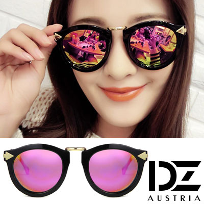 DZ 個性箭矢 抗UV 偏光 太陽眼鏡墨鏡(金桃虹膜)