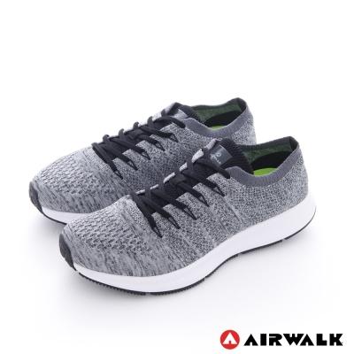 AIRWALK(男) -親膚一夏 棉質編織網紋透氣襪感運動鞋 - 中灰