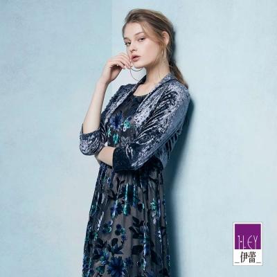 ILEY伊蕾 時尚百搭短版絨布外套魅力價商品(藍/紅/鐵灰)